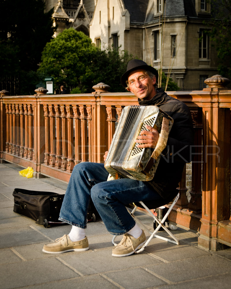 Paris Accordion Player Houston Commercial Architectural Photographer Dee Zunker