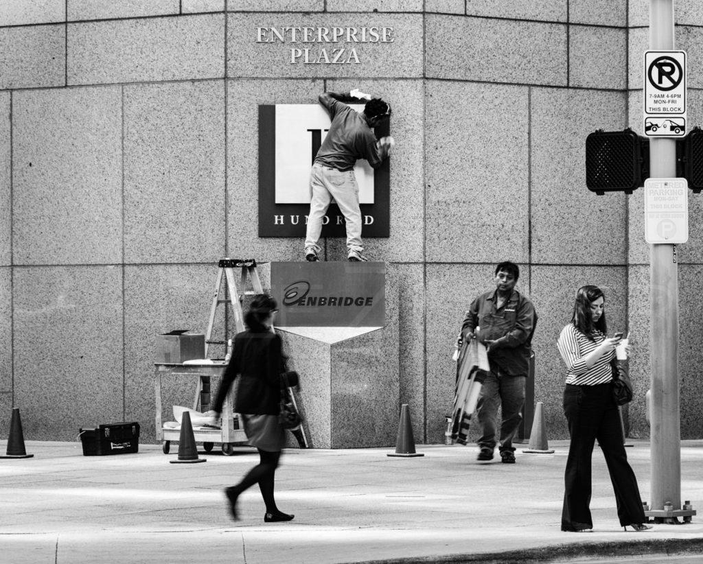 New Sign at Enterprise Plaza  130319_0173_7DZ2631-Edit.tif  Houston Commercial Architectural Photographer Dee Zunker