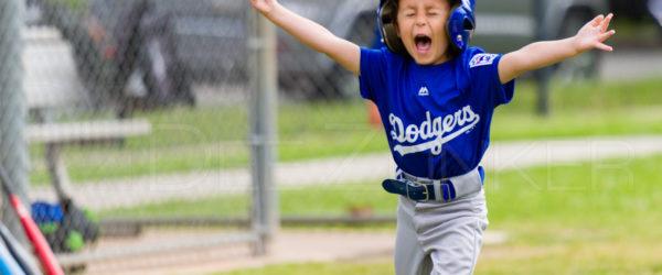 Bellaire Little League T-Ball Rockies Dodgers 20190323