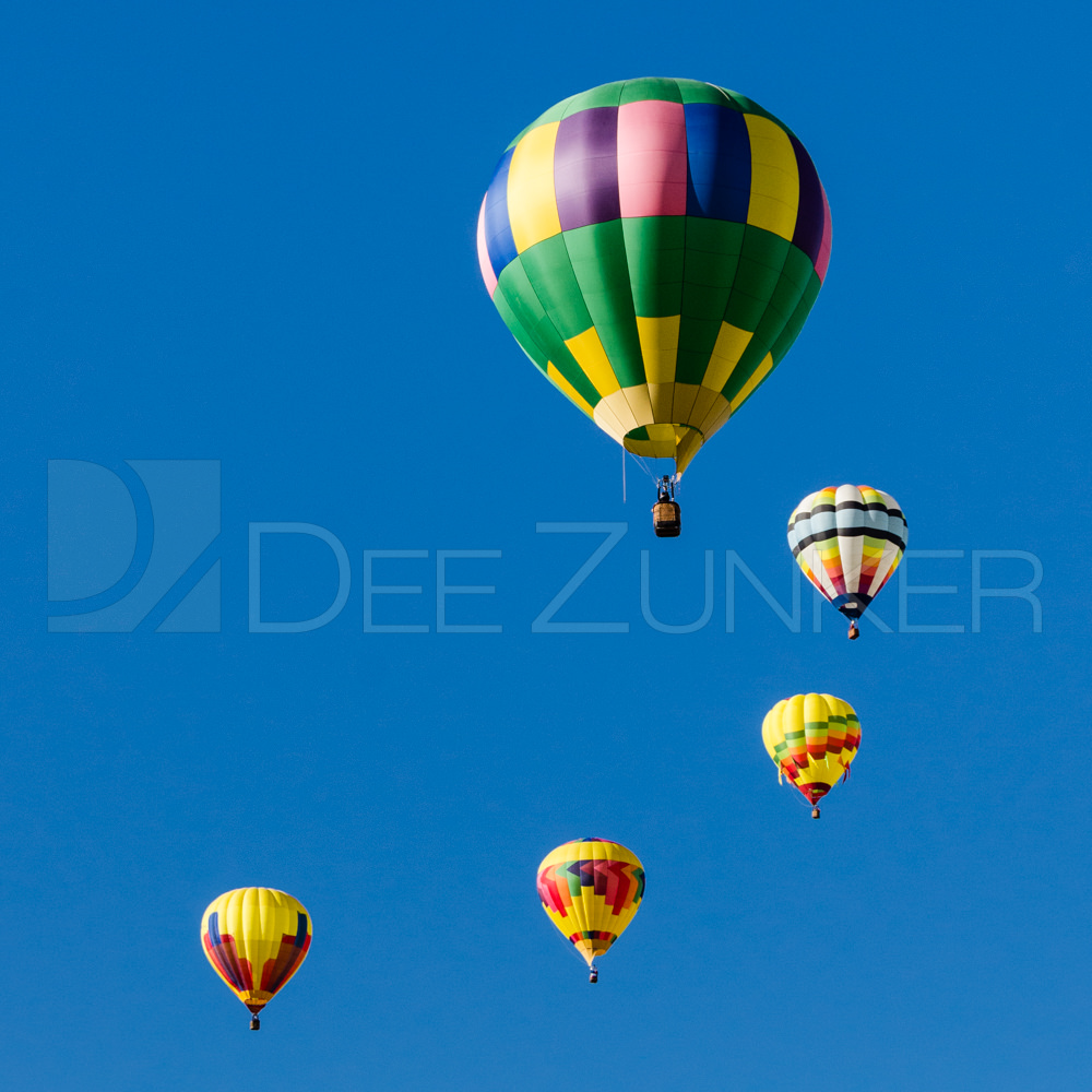 Balloons in the #goldensprial from the Albuquerque Balloon Fiesta Houston Commercial Architectural Photographer Dee Zunker