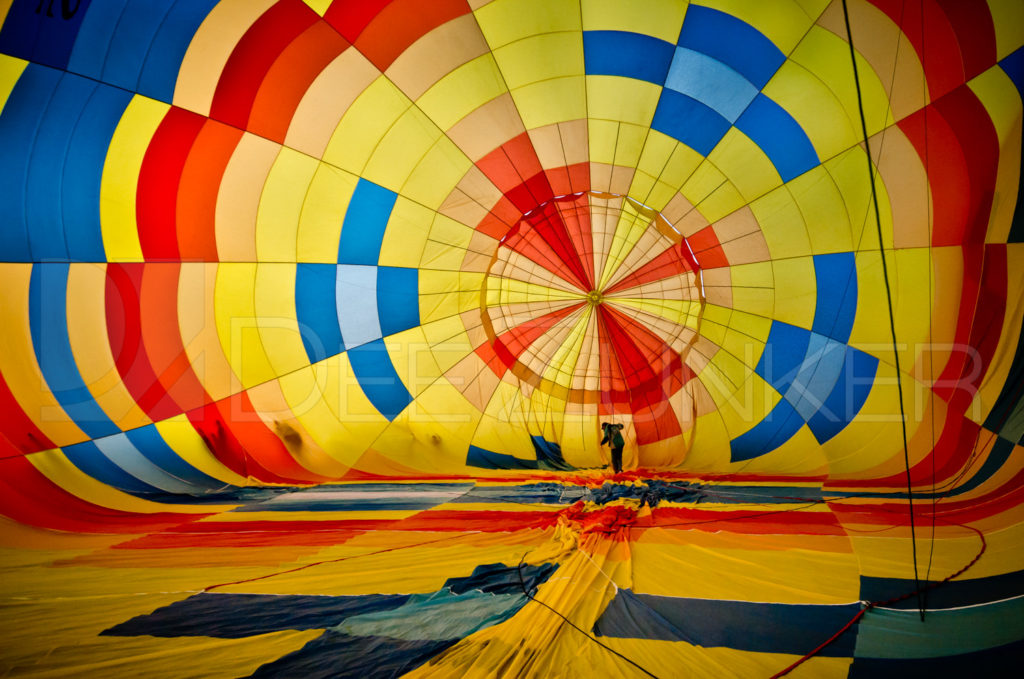 Balloon is Inflating at the Albuquerque Balloon Fiesta with Houston Commercial Architectural Photographer Dee Zunker