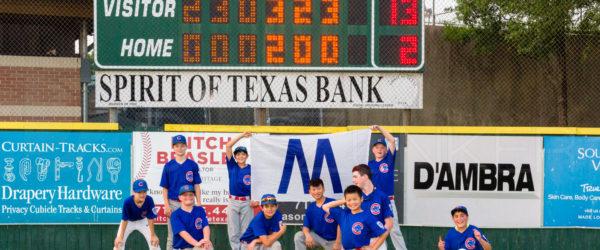 Bellaire Little League Majors Cubs Rockies 20180512