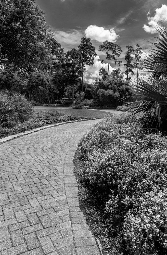 Brick Path through Mercer Gardens Spring TX   201808-SpringTx-007.psd  Houston Commercial Architectural Photographer Dee Zunker