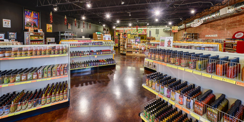Inside the iBurn Sauce Shop in Bellaire, TX -  Bellaire Architecture Interiors Photography   Bellaire-Commercial-Photographer-iBurn-Interior-05.tif  Houston Commercial Architectural Photographer Dee Zunker