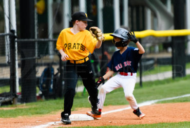 Bellaire Little League Majors Division Pirates Red Sox 20170417