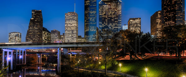 Downtown Houston: Blue Hour on Buffalo Bayou