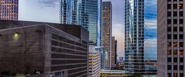 Downtown Houston:Dawn on Smith Street