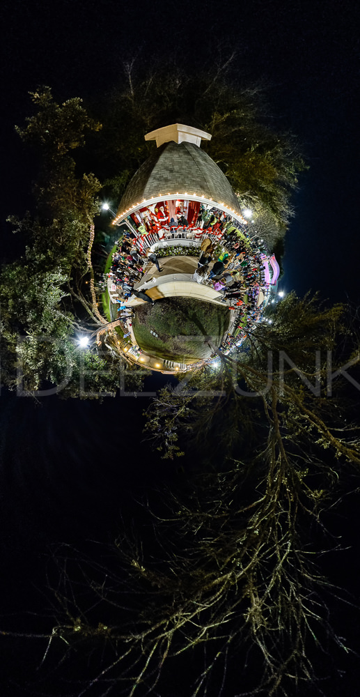 Little Planet from Bellaire's Holiday in the Park  HolidayinPark-Pano3littleplanet2.psd  Houston Commercial Architectural Photographer Dee Zunker