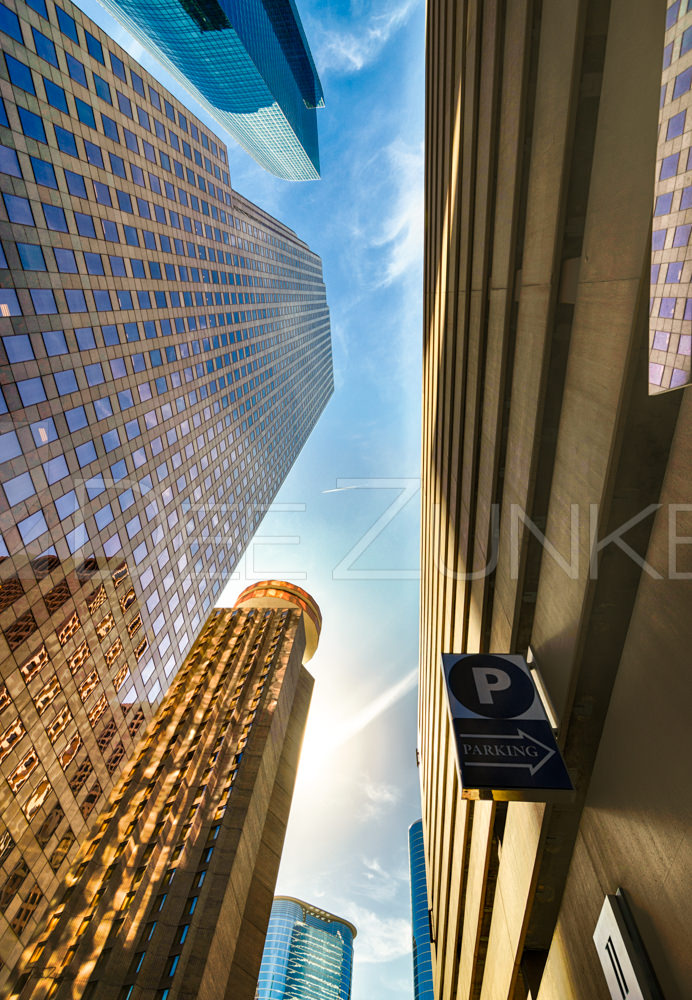 Shadow of the Skyline District  Houston-Architectural-Photographer-Smith-Street-Looking-up.psd  Houston Commercial Photographer Dee Zunker