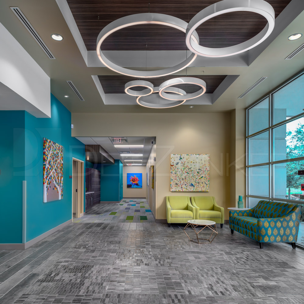 Lobby Lighting Lakeview Health - Woodlands TX  Lakeview-201801-003a.psd  Houston Commercial Photographer Dee Zunker