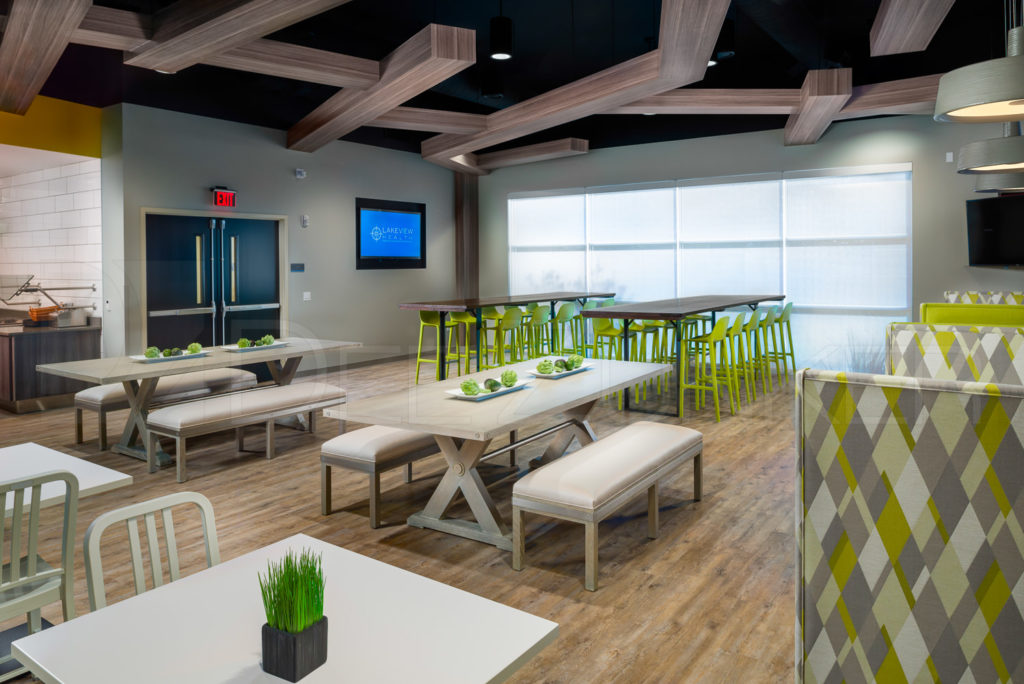 Dining Room Seating Lakeview Health - The Woodlands TX  Lakeview-201801-007.jpg  Houston Commercial Photographer Dee Zunker