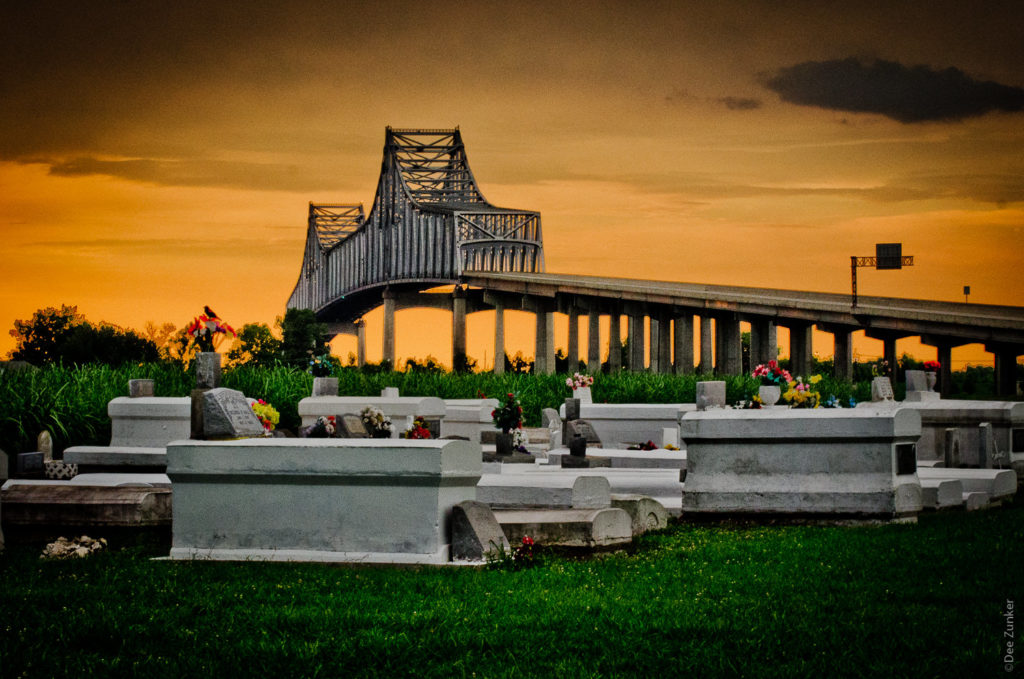 Louisiana Bridges over the graveyard on River Road by Houston Commercial Photographer Dee Zunker