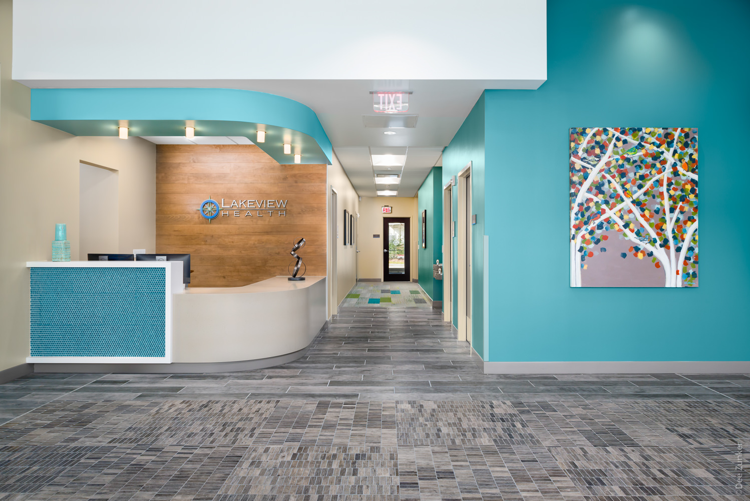 Entrance - Lakeview Health - Woodlands TX  Lakeview-201801-001.jpg  Houston Commercial Architectural Photographer Dee Zunker