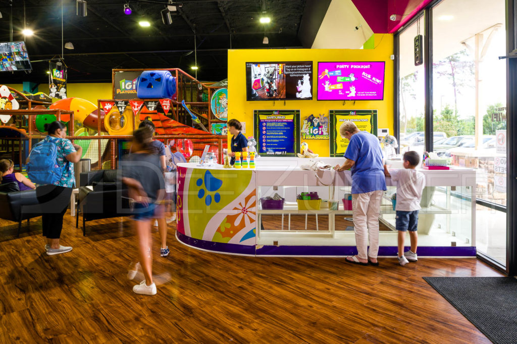 Entrance to IGI-Playground in The Woodlands by Houston Commercial Architectural Photographer Dee Zunker