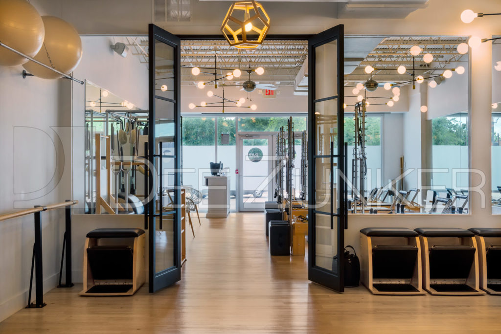 Entrance to Pure Body Studio in Bellaire West University Place | Full Pilates Studio | Photo by -001.tif Houston Commercial Architectural Photographer Dee Zunker
