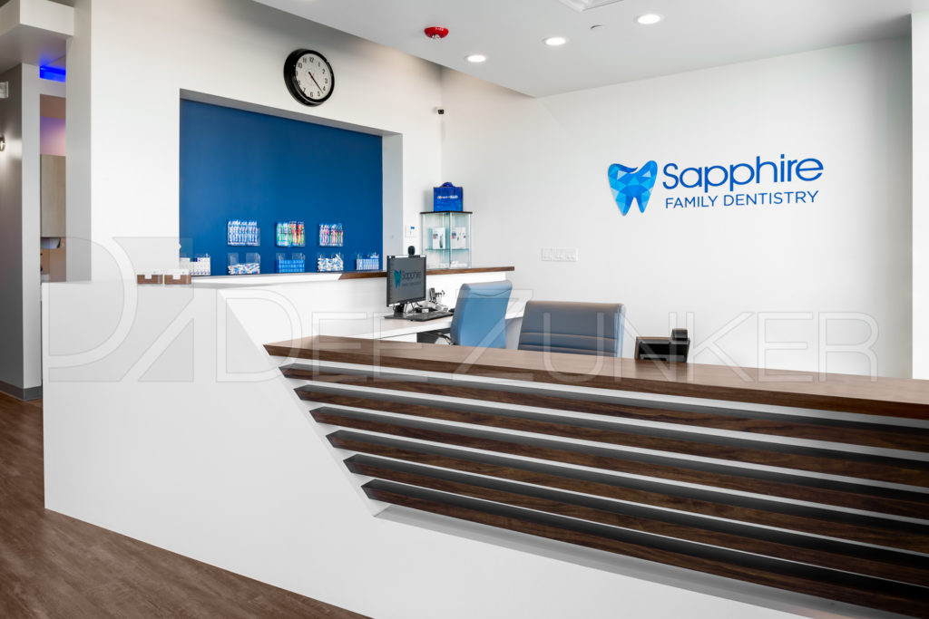 Sapphire Family Dentistry new office reception s opened in Richmond, TX | Photos my commercial photography Dee Zunker.